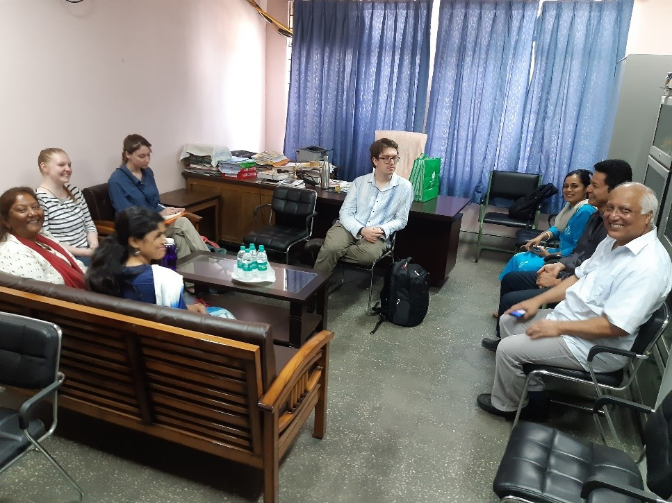 Group sitting in office