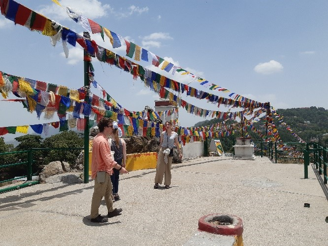 Prayer Flags near Mussoorie Tibetan Monastery